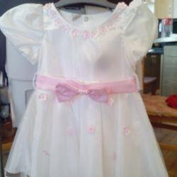 Elegant dress for the girl 74-80
