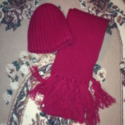 Set hat with a scarf