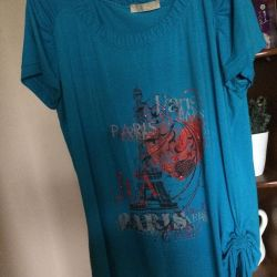 T-shirt elongated Italy cotton
