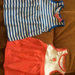 Bir kız için yazlık elbiseler
