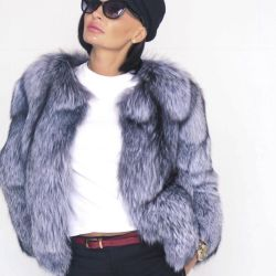 Fur coat from Fur of Silver Fox. New