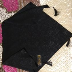 Black shawl with laser treatment