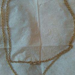 Ланцюжок з кулоном янголятко позолочена