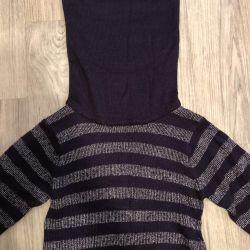 Πλεκτό μακρύ πουλόβερ