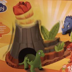 Bir volkan ile yeni dinozorlar