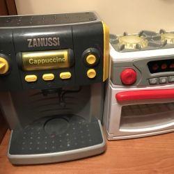 Toys Coffee machine, stove