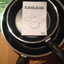 Pan, gray. Diameter 20 cm. Teflon. Sweden.