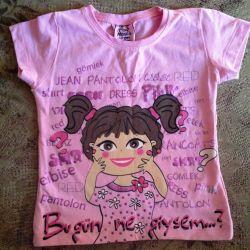 T-shirts Turkish d / girls 86 cm