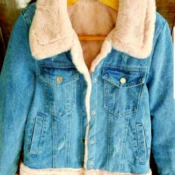 Denim jacket with new fur, limited quantity