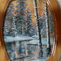 Ζωγραφική σε φλοιό σημύδας