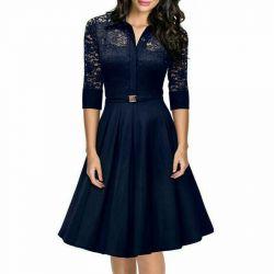Black and blue: silk dress. New. P. 44-48.