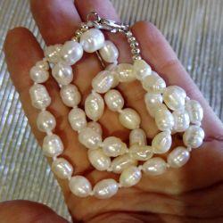 Φυσικές χάντρες από λευκό μαργαριτάρι