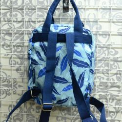 Compact backpack with a pattern