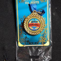 Festive medal.