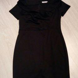 Dress evening, new, black, 52-54 rr
