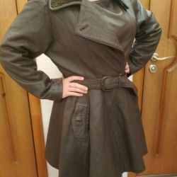 The leather warmed coat 46r
