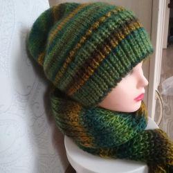 Hat + scarf + mittens