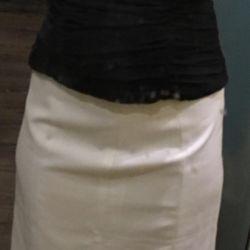 Κορσέ μετάξι και φούστα λευκό
