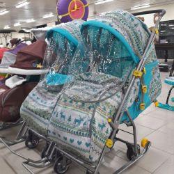 Sledge-wheelchair transformer Umka on wheels