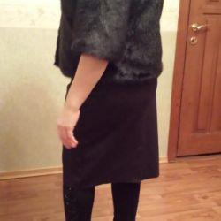 Artificial fur coat