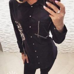 Длинная рубашка женская