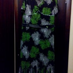 Elegant dress in the floor 56-58
