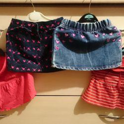 Skirts, shorts in the garden 98-104
