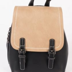 Faux leather backpack. New.