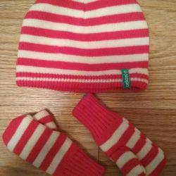 Καπέλο, γάντια. Κιτ. Νέα.
