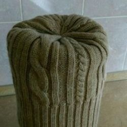 Knitted hats. The original.