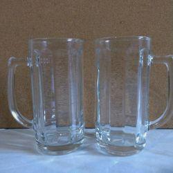 2 Mugs for beer 0.33 ml