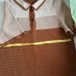 Women's crocheted blouse