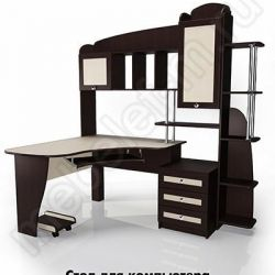 Компьютерный стол угловой Мебелайн-12