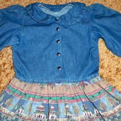 Платье джинс 140 рост