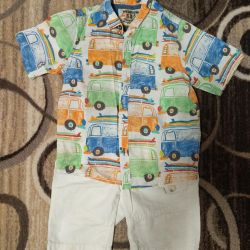 Shorts + shirt Dimensiune următoare 2-3 ani