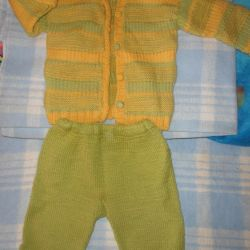 Warm knitted suit 80- 86- 92 cm