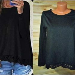 blouse with lace bottom