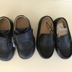 Moccasins and shoes blue r. 23 Mothercare New