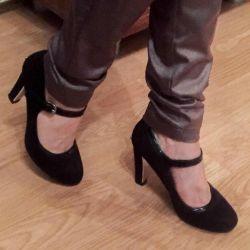 Doğal süet ayakkabı, 35. Topuk 8 cm