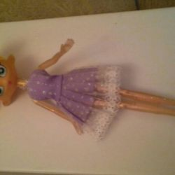 Gold doll with spangles 27 cm