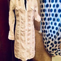 Dress robe. Dress-shirt. Cotton.