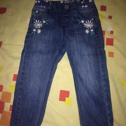 Kız için kot pantolon