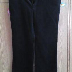Pantaloni de blugi din catifea neagră