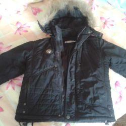 Зимова тeплая куртка на хлопчика з єнотом