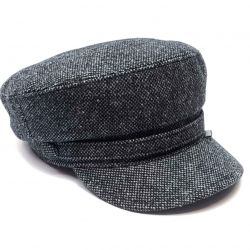 Șapcă de lână căpitan (melanj gri)