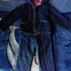 Children's costume with jeans and jacket