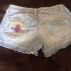 Шорты джинсовые и ремень