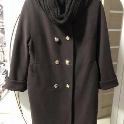 Cashmere coat.