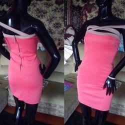 Платье новое турецкое D&G коралл 44