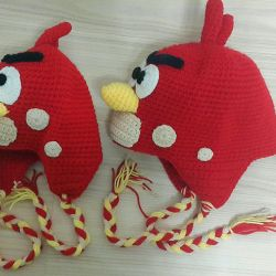 Stylish knitted hat Angry birds new